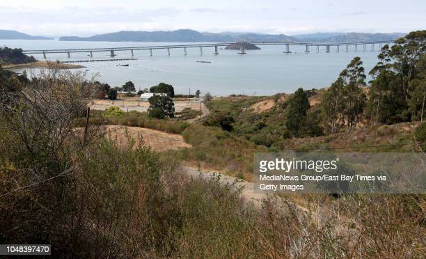 View of the Richmond-San Rafael Bridge is seen at Winehaven in Richmond, Calif., on Monday, Aug. 14, 2018. Winehaven was the world's largest winery...