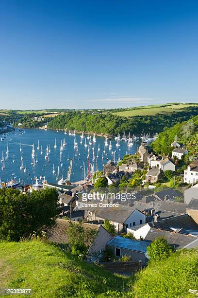 View of the River Fowey Estuary from Polruan. Cornwall. England. UK.
