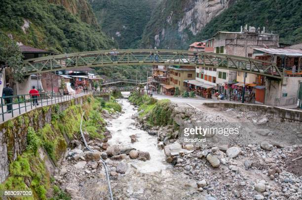 View Of The River In Aguas Calientes, Peru