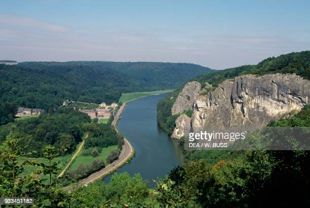 View of the river Meuse from Freyr Castle Belgium