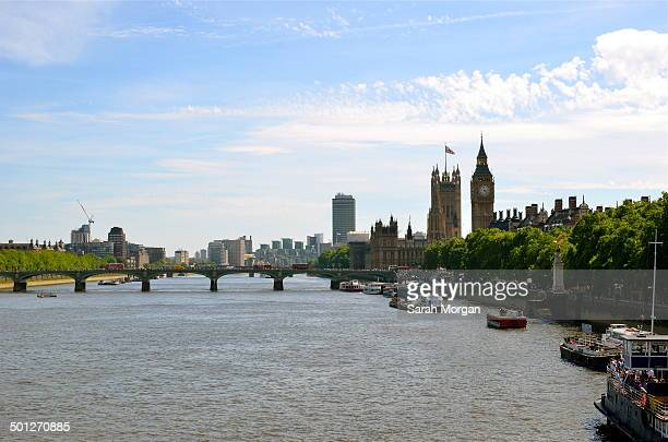 CONTENT] View of the River Thames including Houses of Parliament and Big Ben
