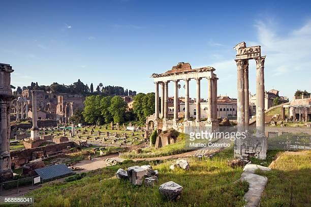 View of the Roman Forum at daytime, Rome, Italy