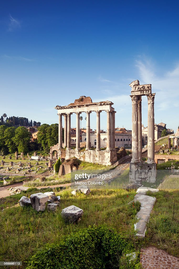 View of the Roman Forum at daytime, Rome, Italy : Stock Photo