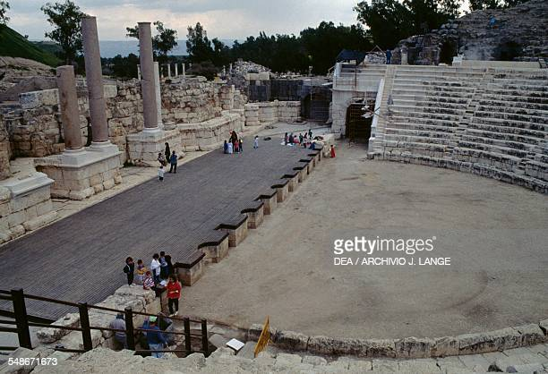 View of the Roman theatre ancient city of Bet Sh'ean Israel