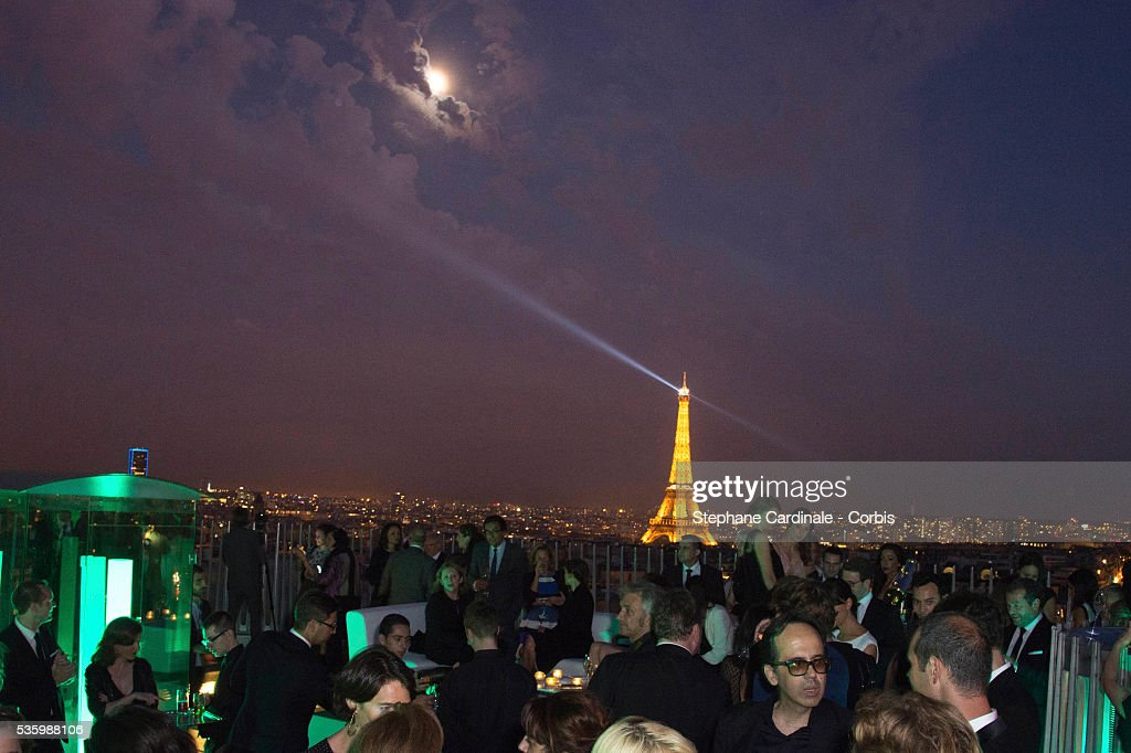 View of the Roof Top during the Tiffany & Co party at the Arc de Triomphe on June 10, 2014 in Paris, France.