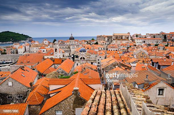 view of the roof tops  dubrovnik, croatia. - ogphoto stock photos and pictures