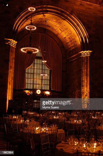 View of the room is seen at the AppleCare Gala at Cipriani restaurant April 30, 2003 in New York City.