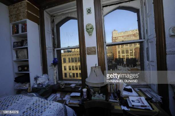 A view of the room of longtime resident and writer Ed Hamilton at the Chelsea Hotel in New York January 10 2011 The Chelsea Hotel a haven for...