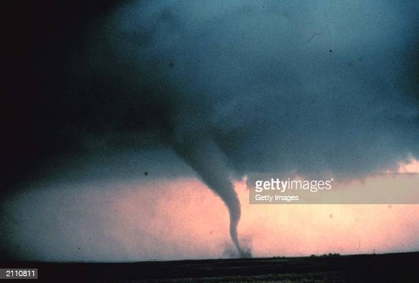 View of the 'rope' or decay stage of tornado seen during 'Sound Chase' a joint project of NSSL and Mississippi State University in Cordell Oklahoma...