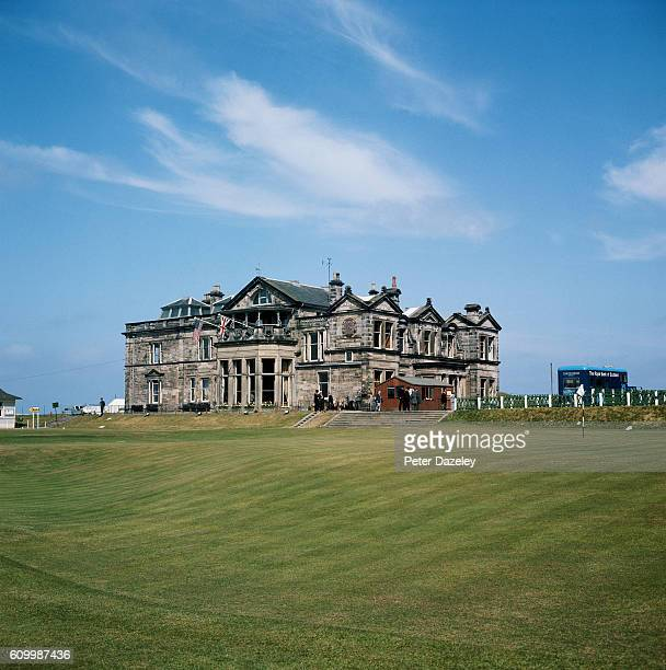 A view of the Royal and Ancient Golf Club of St Andrews Clubhouse during the 1975 Walker Cup Matches on the Old Course at St Andrews on May 28 1975...
