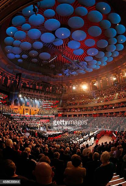 A view of the Royal British Legion's Festival of Remembrance at Royal Albert Hall on November 8 2014 in London England