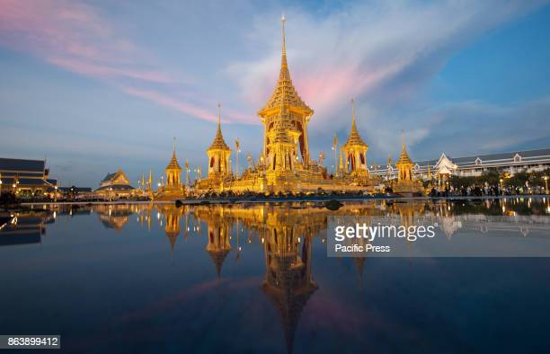 GRANDPALACE BANGKOK THAILAND A view of The Royal Crematorium for late Thai King Bhumibol Adulyadej's funeral ceremony near the Grand Palace in...
