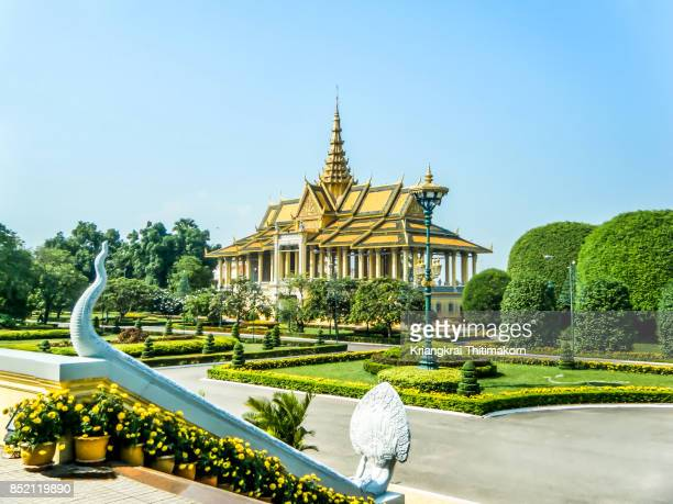 View of the Royal Palace in Phnom Penh, Cambodia.