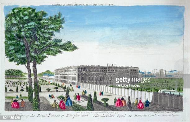 A view of the Royal Palace of Hampton Court London 1760 Hampton Court Palace is a former royal palace in the London Borough of Richmond upon Thames...