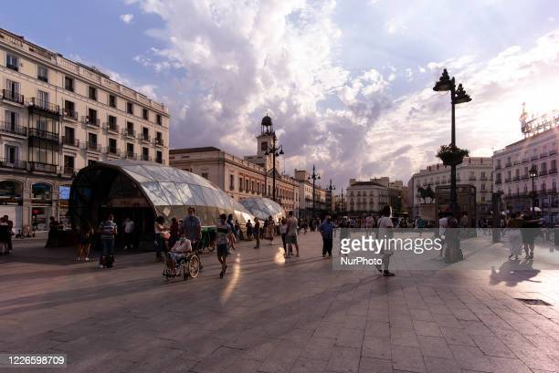 View of the Royal Post Office at Puerta del Sol in the capital on July 12, 2020 in Madrid, Spain. The mayor of Madrid, José Luis Martínez-Almeida,...