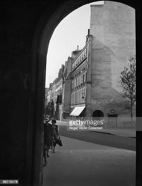 View of the rue de Seine taken through the arcade of the Institut de France Paris 1939