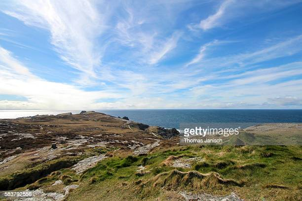 View of the rugged coast around Malin Head, Ireland