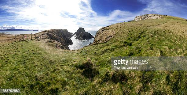 View of the rugged landscape at Malin Head, Ireland