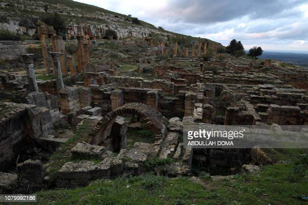 A view of the ruins at the archaeological site of the ancient Greek city of Cyrene a colony of Greek Thira and the main city of the Hellenic world...