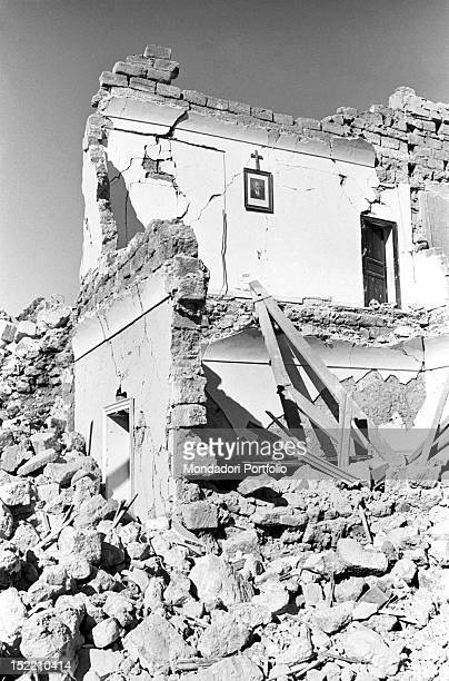 View of the ruins of a building destroyed by the Belice earthquake. Sicily, January 1968