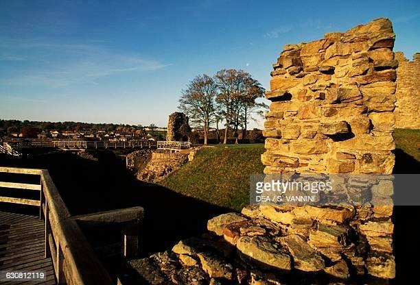 View of the ruins of Barnard Castle Durham England United Kingdom 12th century
