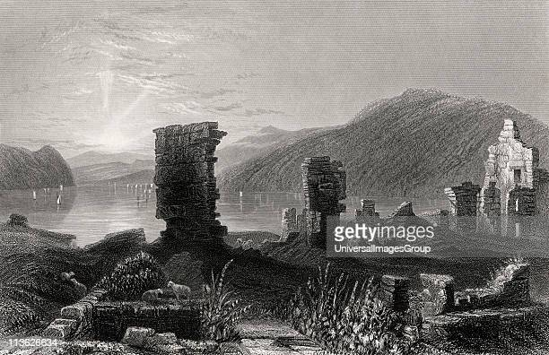 View of the ruins of Fort Ticonderoga From a 19th century print engraved by T A Prior after W H Bartlett