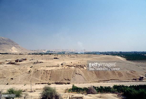 View of the ruins of Herod's Third Palace 1st century BC Wadi Qelt Jericho Israel