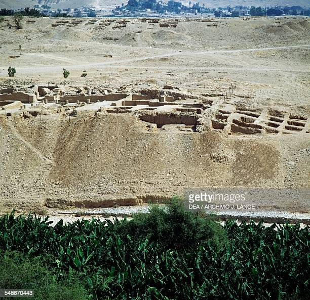 View of the ruins of Herod's Third Palace end 1st century BC Wadi Qelt Jericho Israel