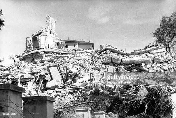 A view of the ruins of Hotel Rajah in Algiers one of the hideouts of the secret agents charged by the French government to fight the SAO Informed by...