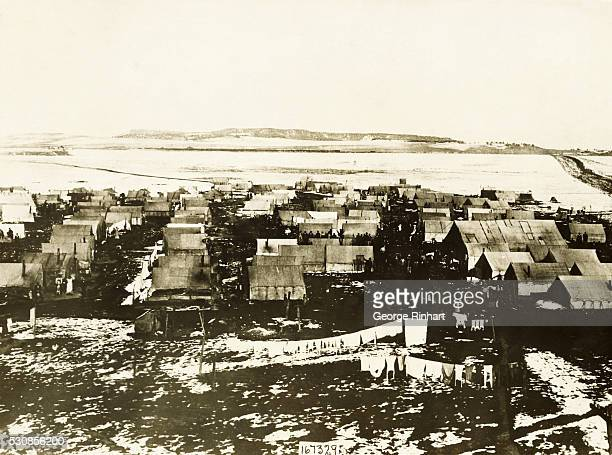 A view of the ruins of Ludlow Colorado in the heart of the mining district where the great coal strike is now in progress It was here that the State...