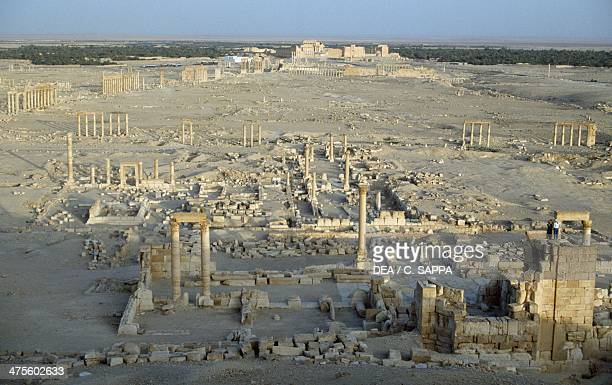 View of the ruins of Palmyra , Syria. Roman civilisation, 1st-2nd century AD.