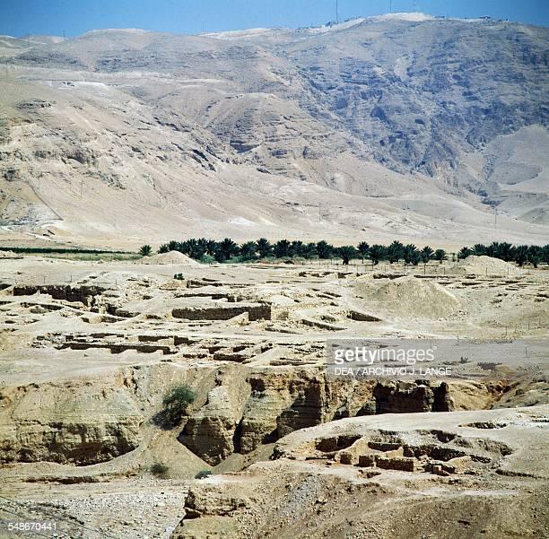 View of the ruins of the Hasmonean royal winter palace 2nd1st century BC Wadi Qelt Jericho Israel