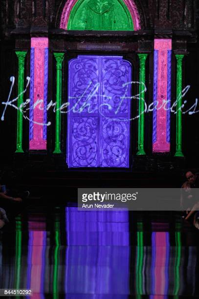 View of the runway during Kenneth Barlis at New York Fashion Week NYFW Art Hearts Fashion SS/18 at The Angel Orensanz Foundation on September 8, 2017...