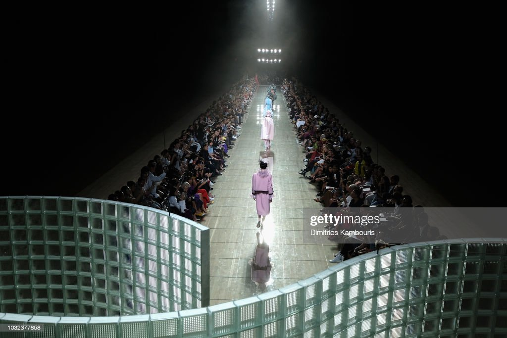A view of the runway finale at the Marc Jacobs Spring 2019 Runway Front Row during New York Fashion Week: The Shows at Park Avenue Armory on September 12, 2018 in New York City.