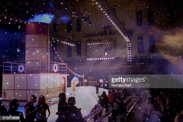 e38587c493230 A view of the runway set at the Tommy Hilfiger Women's Fall 2016 show  during New