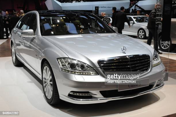 A view of the S 350 BlueTEC 4MATIC shown on the Mercedes stand at the Geneva Motor Show on March 6 2012 in Geneva in Switzerland