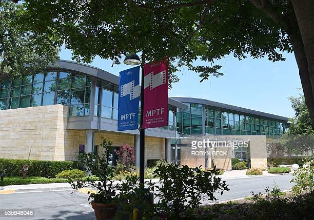 A view of the Saban Center on the Motion Picture Television Fund Wasserman campus May 16 2016 in Woodland Hills California about 22 miles west of...