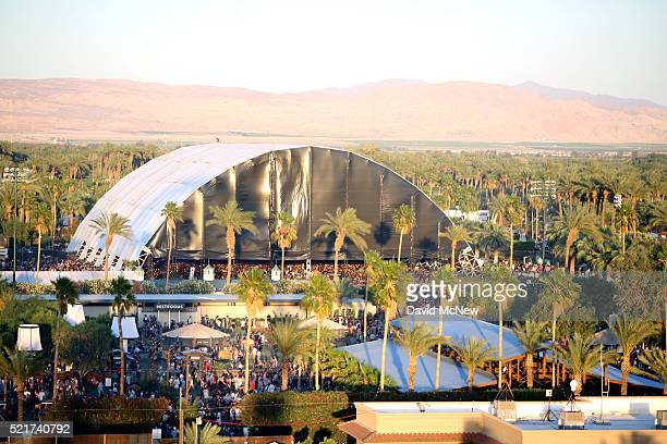 A view of the Sahara stage during day 2 of the 2016 Coachella Valley Music Arts Festival Weekend 1 at the Empire Polo Club on April 16 2016 in Indio...