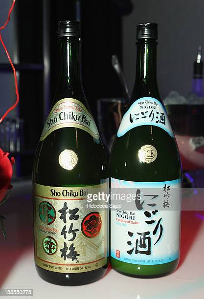 A view of the sake display during The 54th Annual GRAMMY Awards PE Wing Event at The Village Recording Studios on February 8 2012 in Los Angeles...