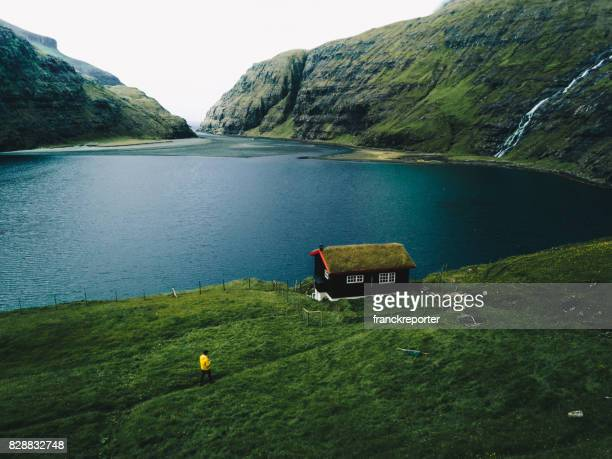 view of the saksun landscape at the faroe