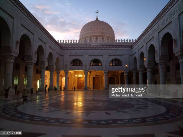A view of the Saleh Mosque named recently the People's Mosque On April 05 2020 in Sana'a Yemen The Saleh Mosque or Al Saleh Mosque is the largest and...