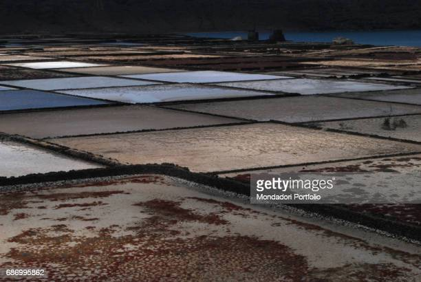 View of the Salinas de Janubio The salt pans are located in a volcanic lagoon Lanzarote 30th May 2016