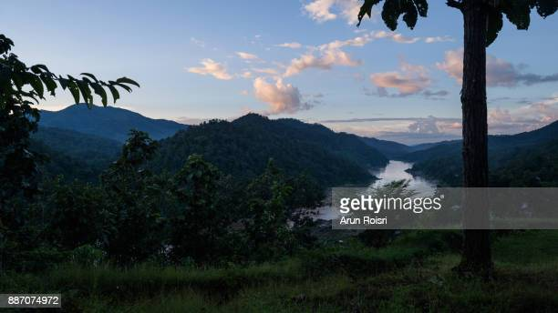 A view of the Salween River as seen from Phra That Mae Sam Laep temple, Mae Hong Son, Thailand