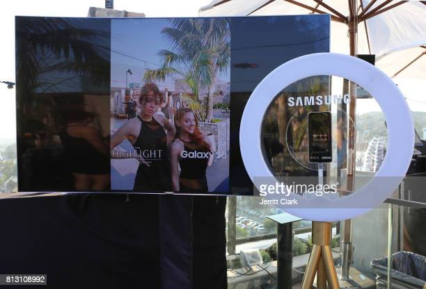 View of the Samsung S8 photobooth at The Grand Opening Of The Highlight Room at DREAM Hollywood on July 11 2017 in Hollywood California