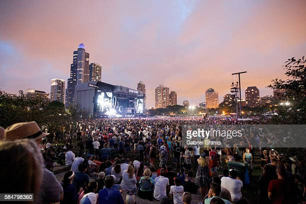 A view of the Samsung Stage at Lollapalooza 2016 Day 3 at Grant Park on July 30 2016 in Chicago Illinois