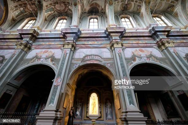 PIEMONTE SALUZZO CUNEO ITALY A view of the San Bernardino church in Saluzzo one of ten most beautiful little villages in Italy Saluzzo is a village...