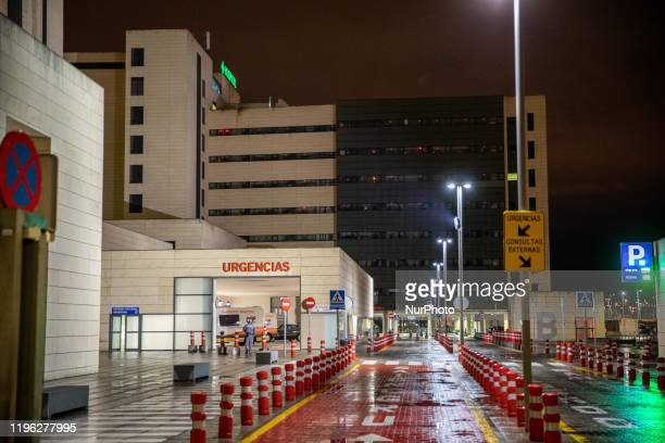 View of the San Cecilio University Hospital in Granada, Spain, where a chinese tourist from Wuhan City entered the hospital at 7:00 p.m., where he...