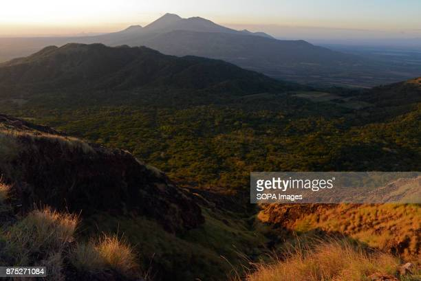 A view of the San Cristobal volcano from Telica volcano in the Leon Department of Nicaragua San Cristobal is part of the Cordillera los Maribios and...