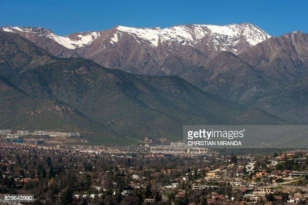 View of the San Ramon fault in eastern Santiago on August 4 2017 Chile has put the San Ramon geological fault capable of destroying the eastern zone...