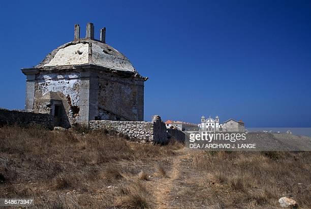 View of the sanctuary of Nossa Senhora do Cabo de Espichel Historical Province of Extremadura Alentejo Portugal 18th century